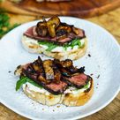 Steak-Crostini mit Balsamico-Pilzen