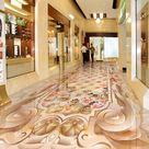 3D Rose Embellishment 0931 Floor Wallpaper Murals Self-Adhesive Removable Kitchen Bath Floor Waterpr