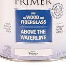Rust Oleum Marine Coatings Wood & Fiberglass Primer White Flat Enamel Oil Based Marine Primer 1 Quart   207014