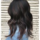 dark brown hair with highlights and lowlights chocolates