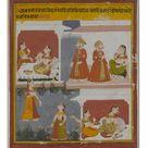 A4 Poster. Illustration from a Manuscript of the Bihari Satasai