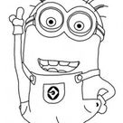 Printable  Disney Two Eyed Minion Despicable Me 2 Coloring Pages - Free Kids Coloring Pages Printable