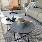 Kleine ronde Salontafel Rondo van keramiek - Woonwinkel Alle Pilat