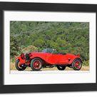 Alfa Romeo 6C 1500 Sport Zagato Spider, 1928, Red. Framed Photo. Alfa Romeo 6C 1500 Sport Zagato Spider 1928 Red.
