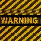 Free Motion Graphic Virtual Background ⚠️ Warning Alert Sign VHS Glitch VJ Loop