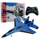 Foam remote control fixed-wing aircraft - BLUE