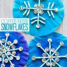 Coffee Filter, Straws and Pasta Snowflake Craft