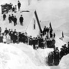 1910 Public School, Valdez, Alaska Vintage Photograph 8.5