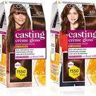 L'Oreal Paris Casting Creme Gloss Hair Color, Dark Brown 400, 87.5g+72ml And L'Oreal Paris Casting Creme Gloss Hair Color, Chocolate 535, 87.5g+72ml