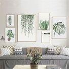 Tropical Plants Leaves Canvas Vintage Poster Wall Art Prints Modern Home Decor    eBay