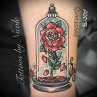 Top 71 Beauty and The Beast Rose Tattoo Ideas - [2021 Inspiration Guide]