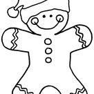 free gingerbread man digital stamp
