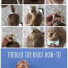 toddler top knot hair how-to