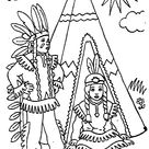 Indians coloring pages