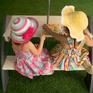 Table de pique-nique pour enfants Kylo rectangulaire 4 personnes, L.108 cm