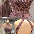 Gorgeous Open Back Short Satin Homecoming Dress,HS303