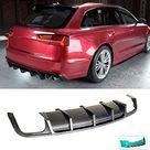 XTT Rear Diffuser fits Audi A6 Sline S6 Avant Estate Wagon 5Door 2015 2018 Carbon Fiber CF Lower Bumper Lip Spoiler Body Kit