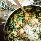 Arugula + pine nuts + hella lemon pasta & lots of other fun stuff. Lunch for 80.  My back hurts…