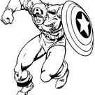 Captain America Shield Coloring Page Free