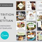 27 Instagram and Facebook Canva Templates for Nutrition Coach   Etsy