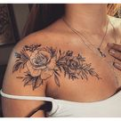 collarbone tattoos for women flowers
