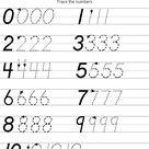 Writing Numbers (D'Nealian Style)