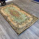 Pink Oushak Rug, Vintage Rug, Turkish Rug, Bohemian Rug, Area Rug, Home Decor, Wool Rug, Carpet, Kilim, 119 x 216 cm // 3.9 x 7.1 ft