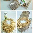 Glass Pumpkin Jack-o-Lanterns on Homemade Hay Bales