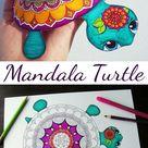 Mandala Turtle (rare species) - Coloring Papercraft - Hattifant
