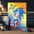 Metal Poster Sonic
