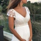 Classic sophisticated wedding gown, boho style dress
