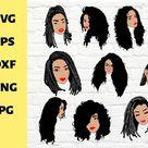 10 Color svg Black woman svg,black girl magic,cricut, braids (1141225)   SVGs   Design Bundles