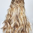 Fishtail Braid Half-Up Hairstyle Tutorial