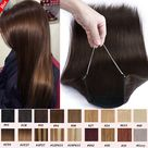 eBay Straight Wire In Human Remy Hair Headband Crown Weft Extensions NO CLIPS Thick g
