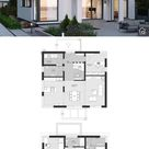 Modernes Haus mit Satteldach & Galerie bauen - Einfamilienhaus Grundriss 180 qm, 3 Kinderzimmer