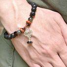 Reiki Charged Beaded Gemstone Bracelet - Root Chakra