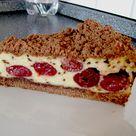 Schoko - Streuselkuchen mit Vanille - Kirschfüllung von Perle | Chefkoch