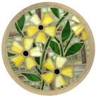 MADE TO ORDER -  Black Eyed Susan (Yellow) 300mm Glass Mosaic Concrete Stepping