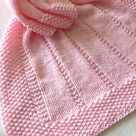 Knitting pattern ~ Easy Baby Blanket ~ Reversible Design ~ Aran Yarn