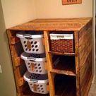 Was für eine großartige Möglichkeit, organisiert zu bleiben! Diese können f… - Pallet Diy