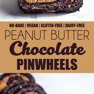 No-Bake Peanut Butter Chocolate Pinwheels (Vegan & Gluten-free) - UK Health Blog - Nadia's Healthy Kitchen