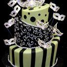 Masquerade Party Cake