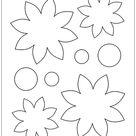 felt flower templates printable free
