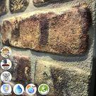 IZODEKOR Wandverkleidung Steinoptik Styropor 3D Wandpaneele - Verblender Steinoptik für Küche, Badezimmer, Balkon, Schlafzimmer, Wohnzimmer, Küchenrückwand und Teras | Alter Tempel