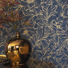 Monceau by Casadeco - Ink / Gold - Wallpaper : Wallpaper Direct