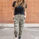 Accent Joggers   Camo and Charcoal   3X