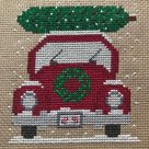Bringing Home the Christmas Tree Cross Stitch Pattern Instant Download PDF Crossstitch