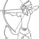 Robin Hood Aim For Target Coloring Pages