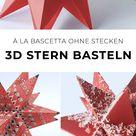 Riesen 3d Stern falten a la Bascetta ohne Zusammenstecken (bekannt aus ARD-Buffet)