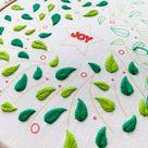 Fishbone Stitch leaves 🍃🍃